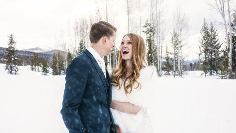 Matthew & Camille Grand Lake snow wedding