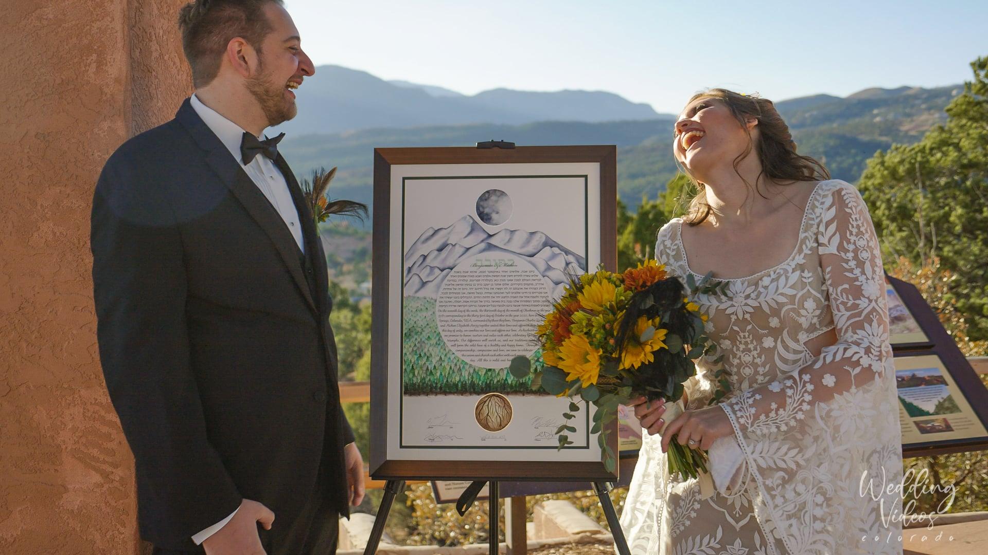 Ben Michon Garden of the Gods Colorado Springs Wedding elopement Video videographer